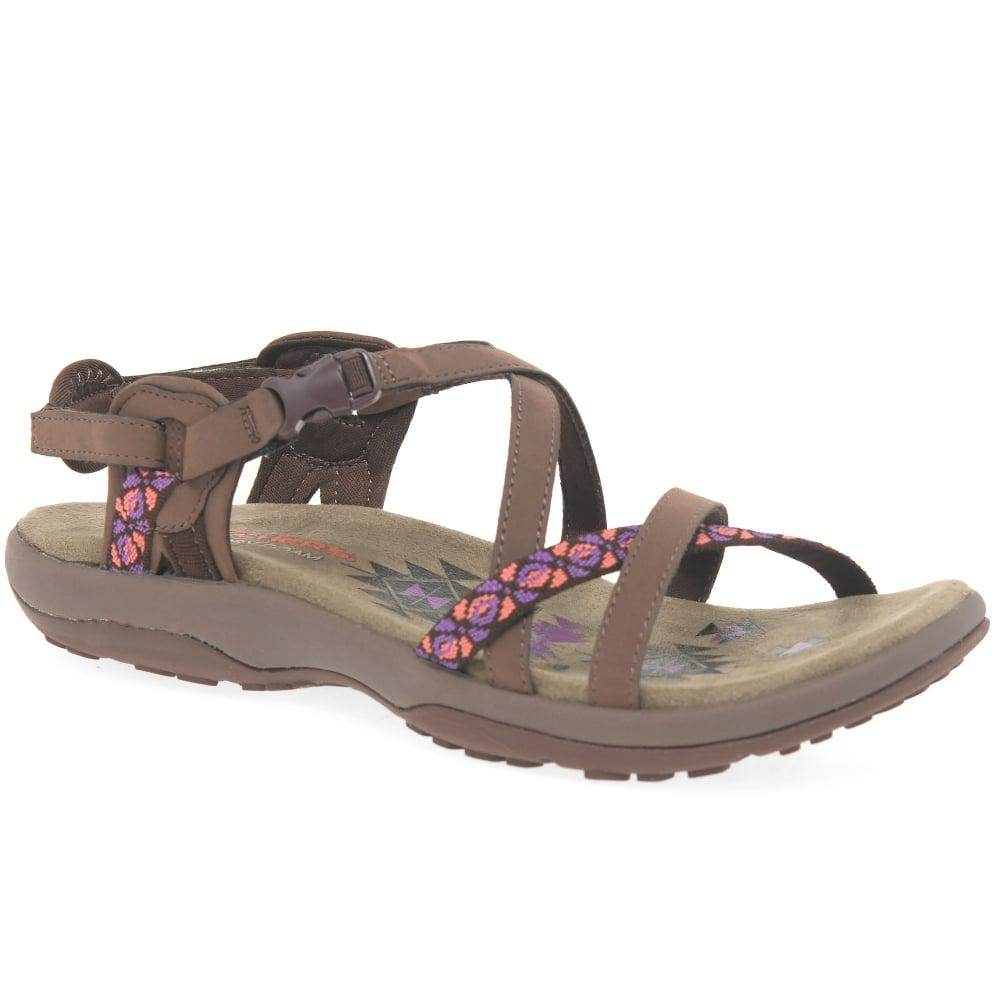 Skechers Reggae Slim Vacay Womens Sandals In Chocolate