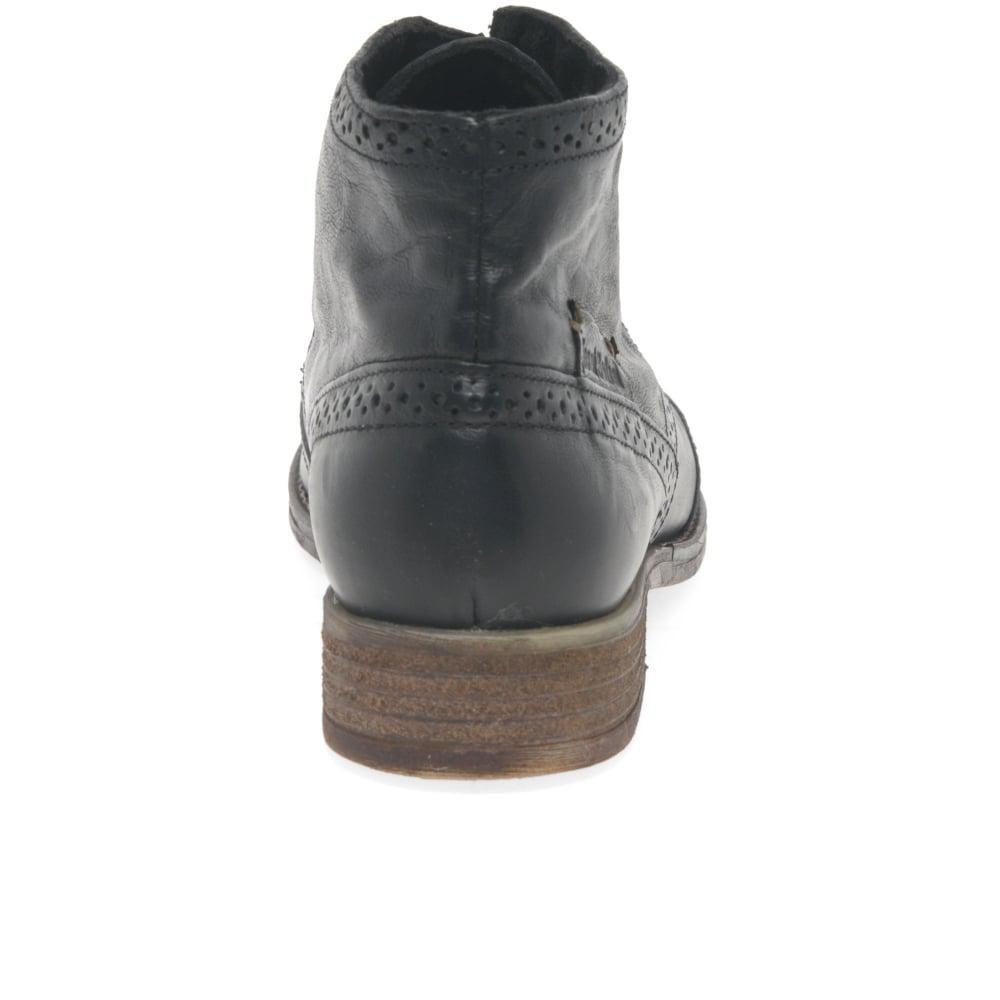 a72d4b60f91 Josef Seibel Black Sienna 15 Womens Brogue Ankle Boots
