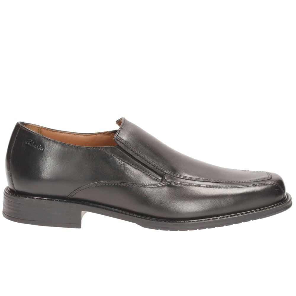 Clarks Leather Driggs Free Mens Slip On Shoes in Black for Men