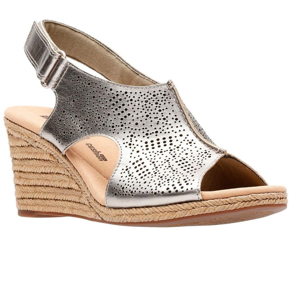 6c1750537c41 Lyst - Clarks Lafley Rosen Womens Wedge Sandals