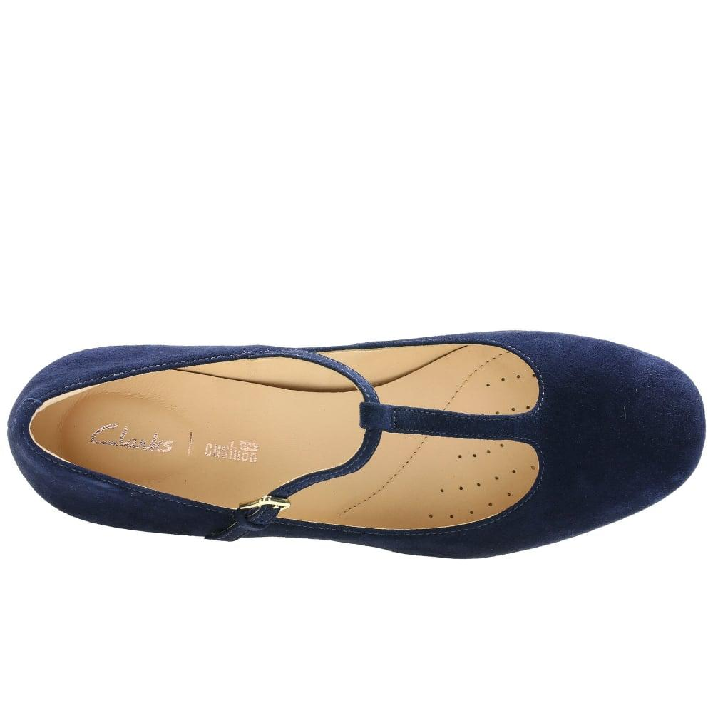 Finery Blue Suede Strap Shoes