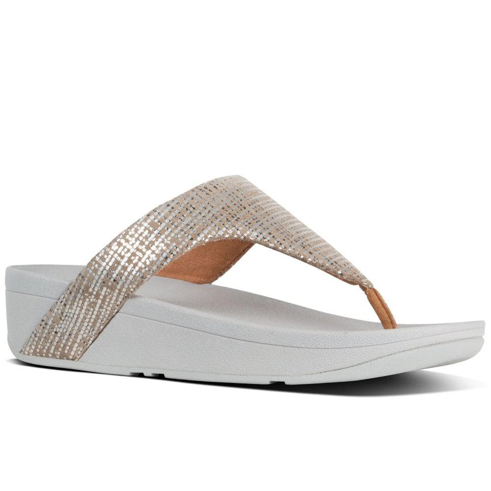 847b65968 Fitflop Lottie Chain Print Womens Toe Post Sandals in Metallic - Lyst