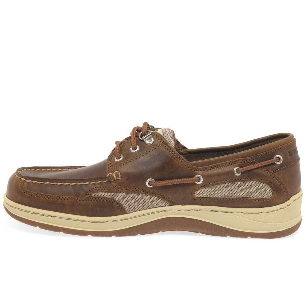 112cba357ca Sebago - Brown Clovehitch Ii Fgl Wax Mens Boat Shoes for Men - Lyst. View  fullscreen