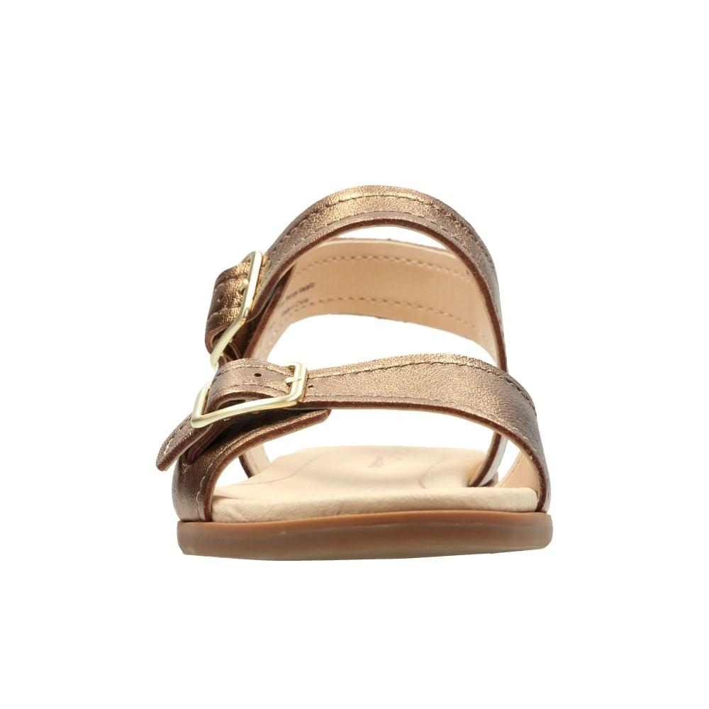 49133bc46816ea Lyst - Clarks Bay Primrose Womens Sandals in Metallic