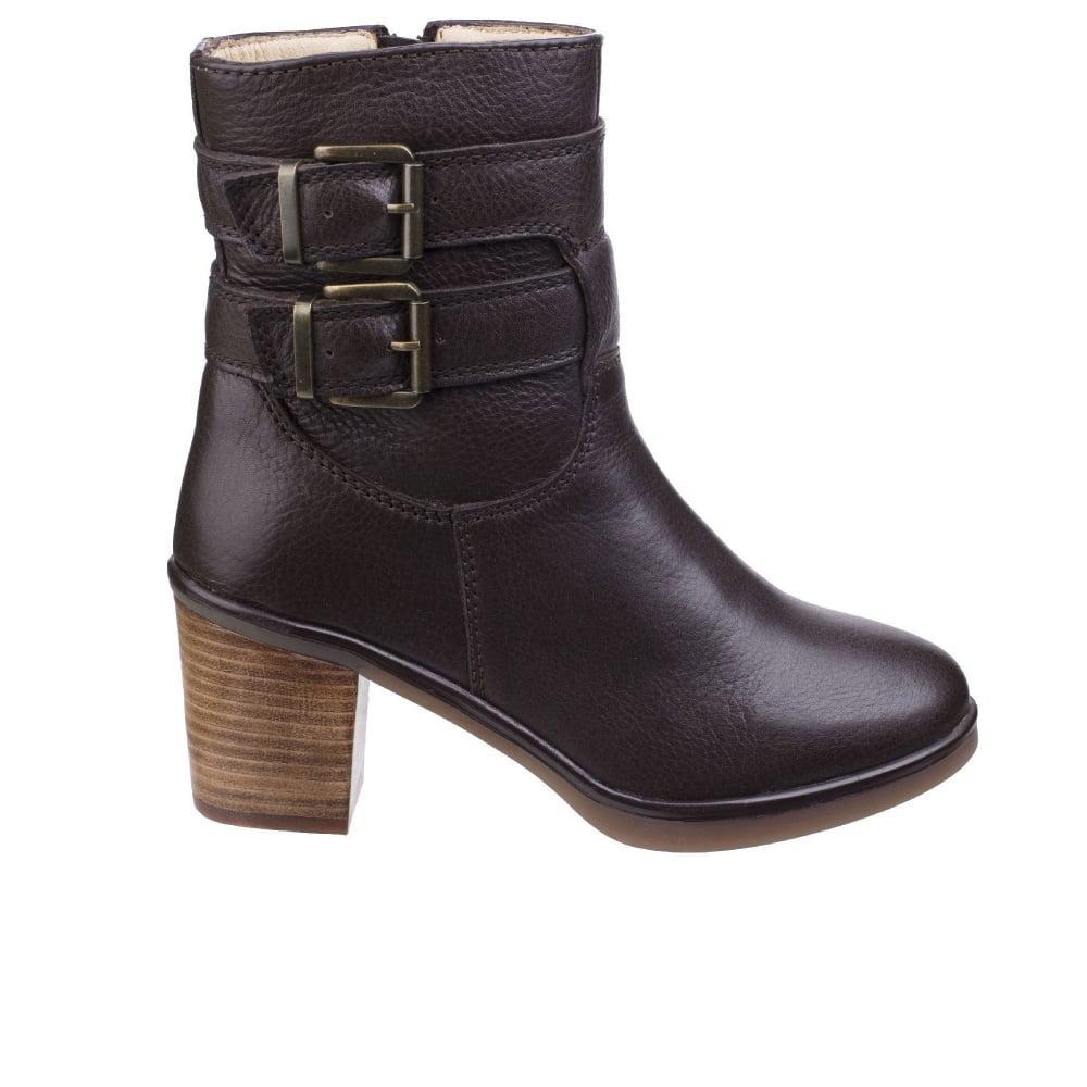 Hush Puppies Leather Saige Olivya Womens High Heeled Biker Boots