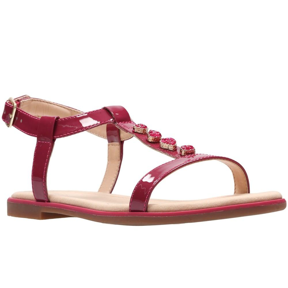 Clarks. Bay Blossom Womens Patent Sandals