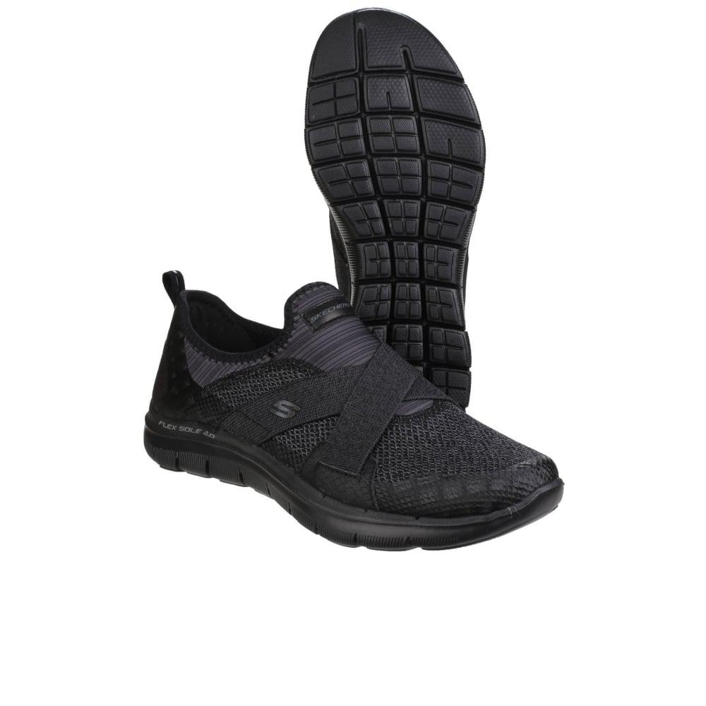 Skechers Synthetic Flex Appeal 2.0 New Image Womens Sports Shoes in Black for Men