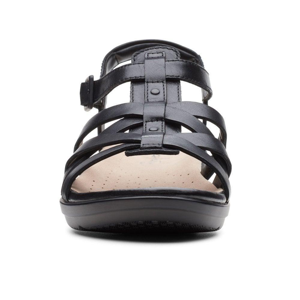 07e8c59ec5d9 Clarks - Black Loomis Katey Womens Wide Fit Fisherman Sandals - Lyst. View  fullscreen