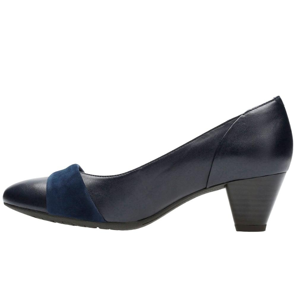 Navy Blue Court Shoes Clarks