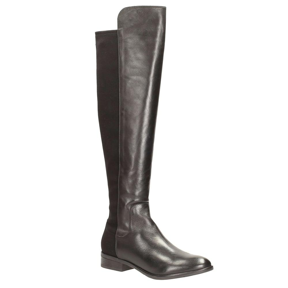 819d8bf0727 Clarks Caddy Belle Womens Over The Knee Elasticated Long Boots in ...