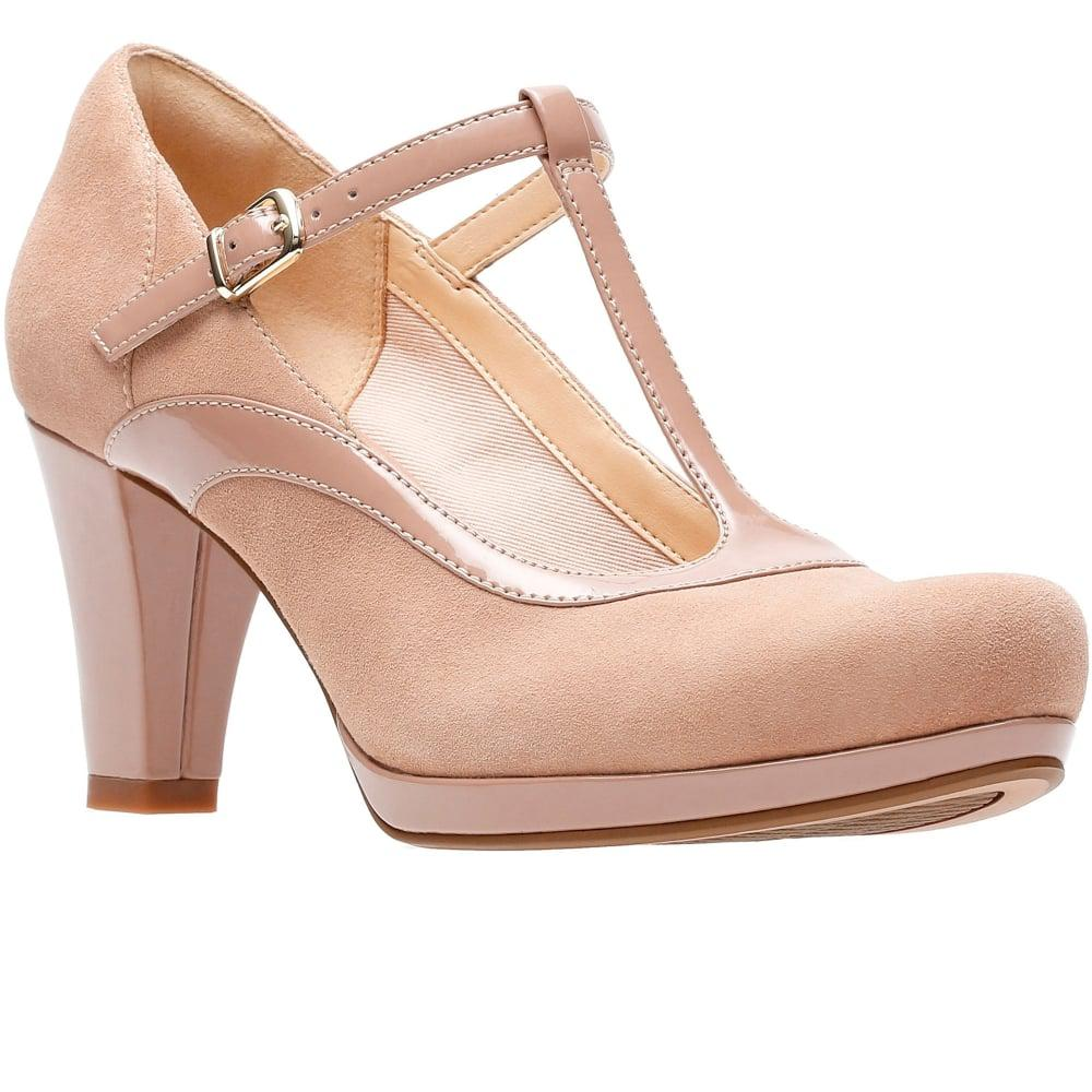 2af8343e013db Clarks - Natural Chorus Pitch Womens T-bar Court Shoes - Lyst. View  fullscreen