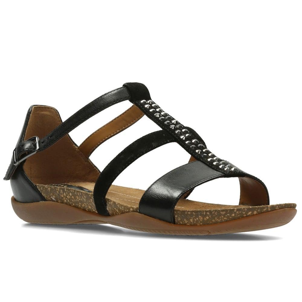 Clarks Autumn Fresh Flat Sandals BEIGE Women