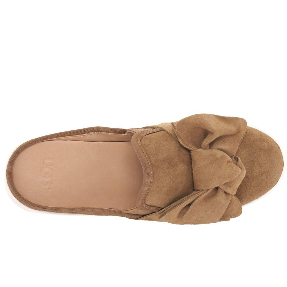 a1514b726eb Ugg Brown Luci Bow Womens Slip On Shoes