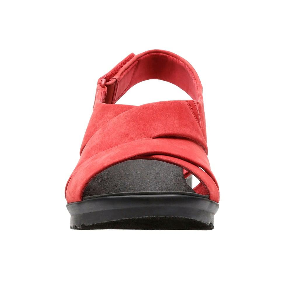 0c1cedde2c4 Lyst - Clarks Caddell Petal Womens Wide Slingback Sandal in Red
