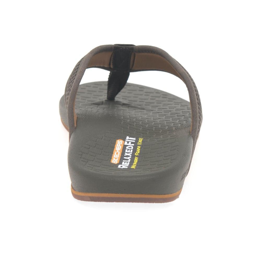 c05158d1c2a201 Skechers - Brown Pelem Emiro Mens Toe Post Sandals for Men - Lyst. View  fullscreen