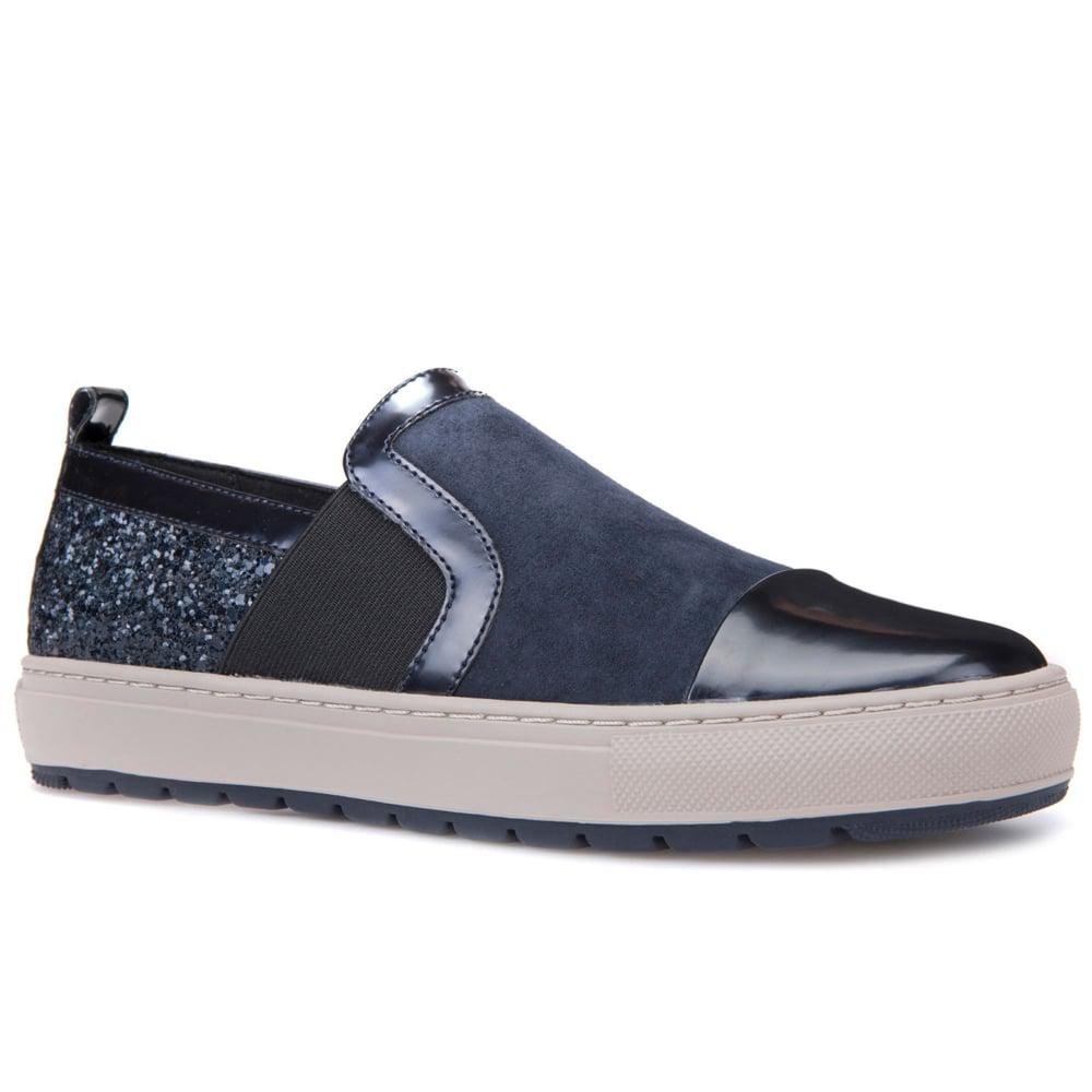 Geox Casual Navy Blue Womens Shoes