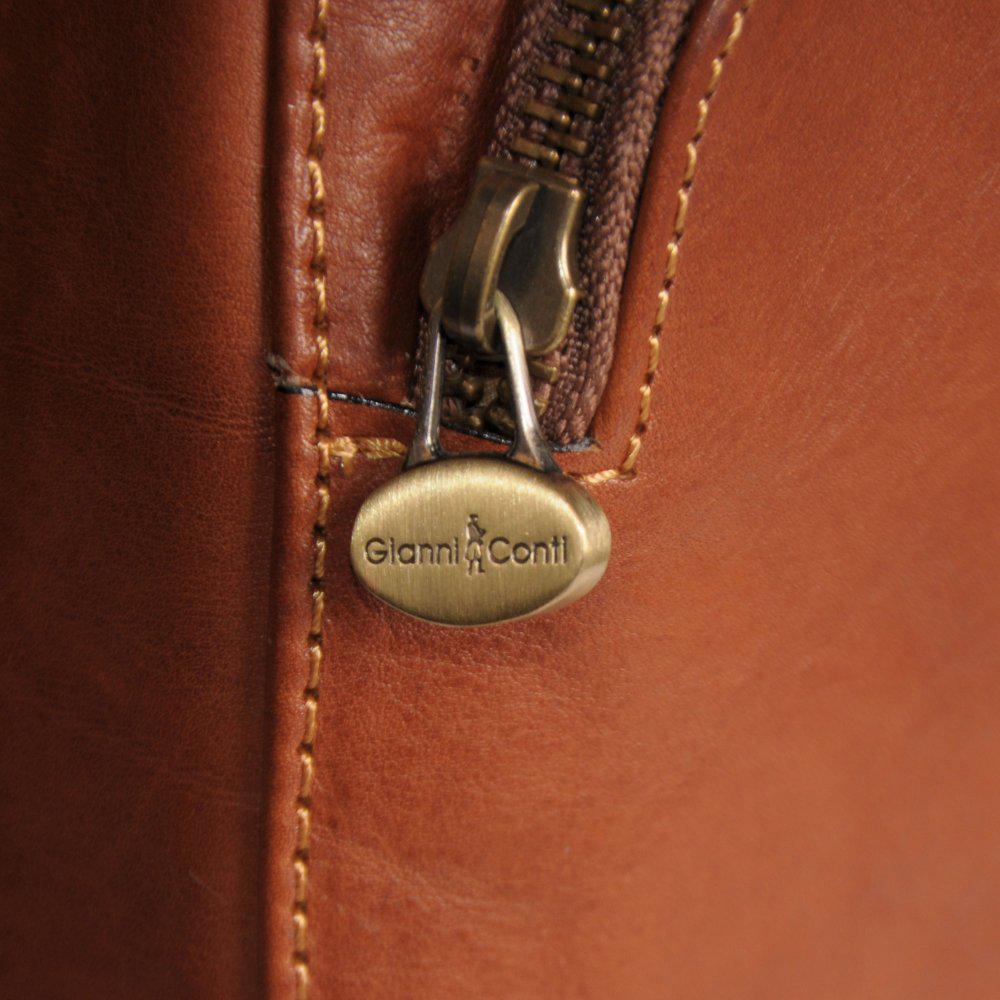 Charles Clinkard Bergamo Womens Leather Backpack In Cognac
