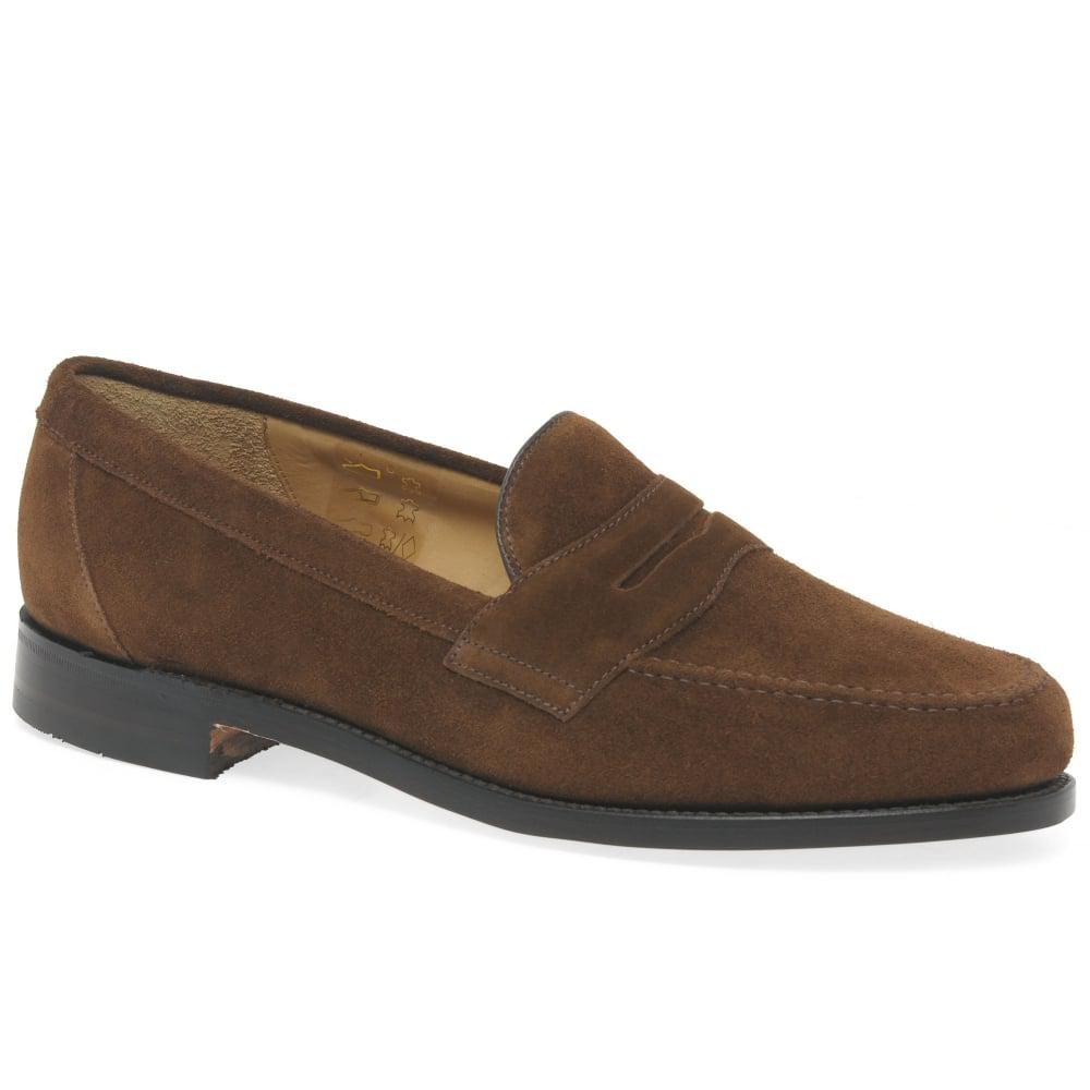851a41aa Loake. Brown Eton Mens Suede Formal Loafers. $278 From Charles Clinkard
