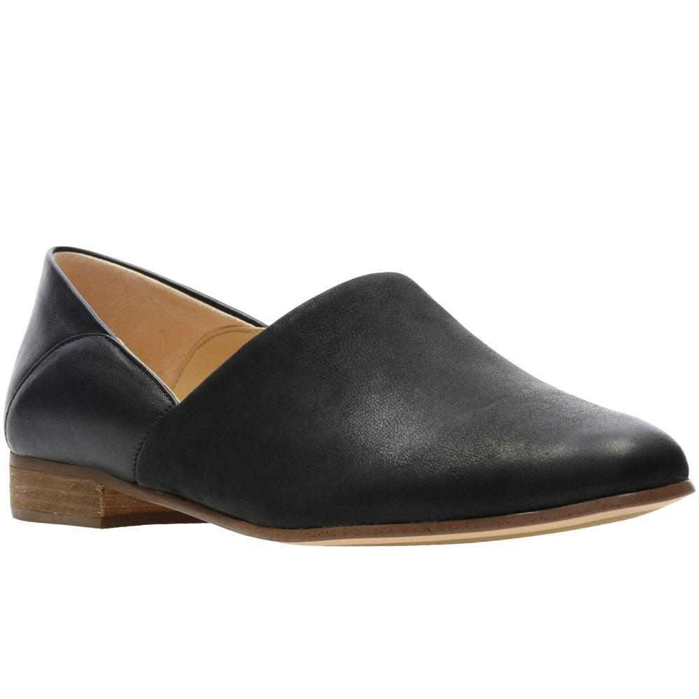 b53402615 Clarks Pure Tone Womens Shoes in Black - Lyst