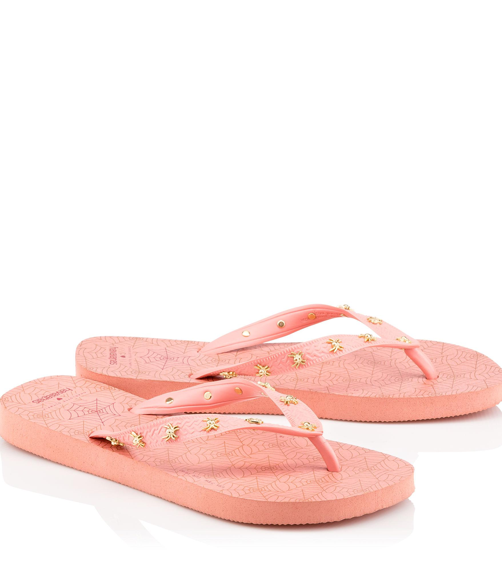 49e53e3fdb10 Lyst - Charlotte Olympia Charlotte s Web Havaianas in Pink