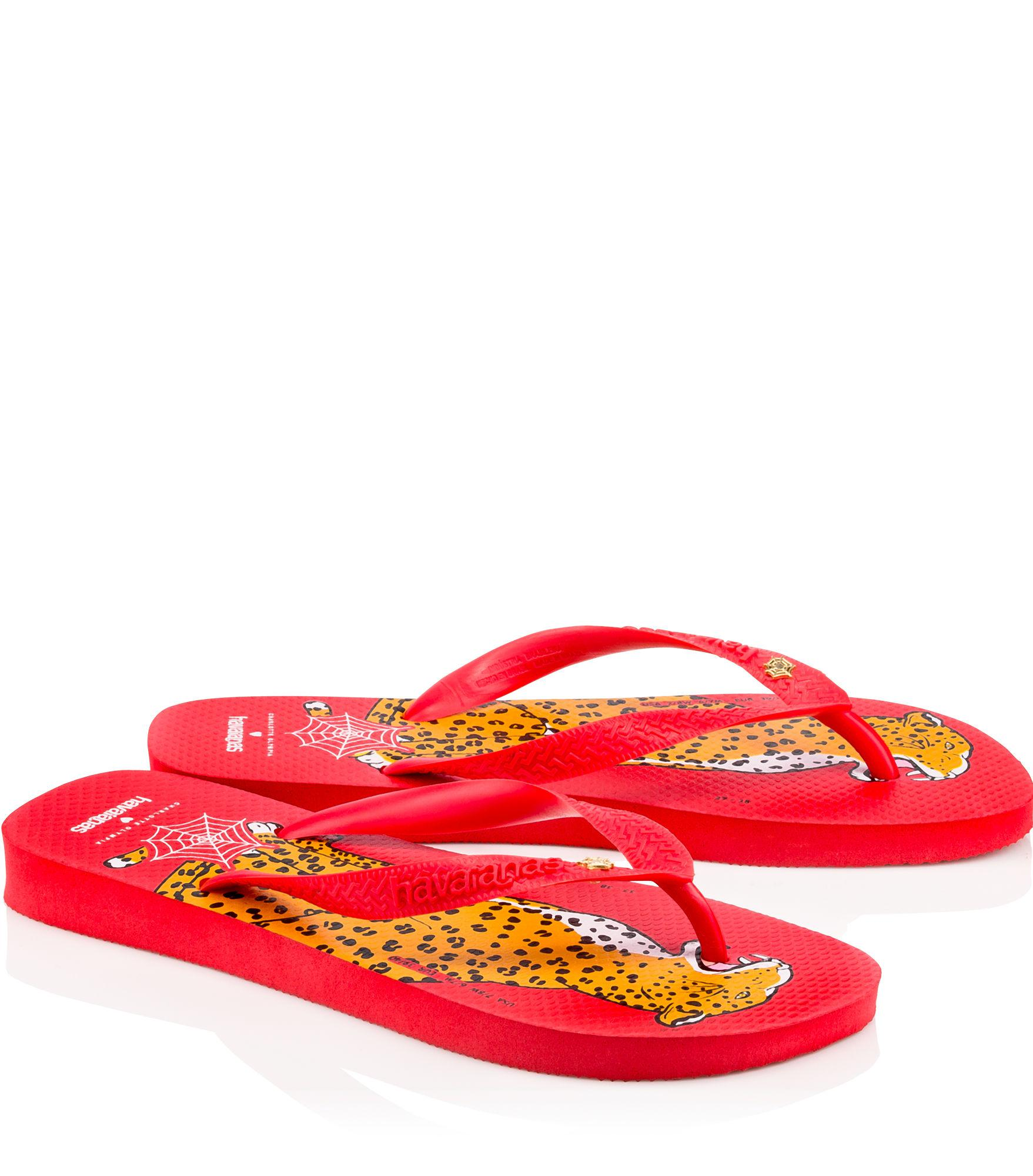 7036228ac Lyst - Charlotte Olympia Bruce Havaianas in Red