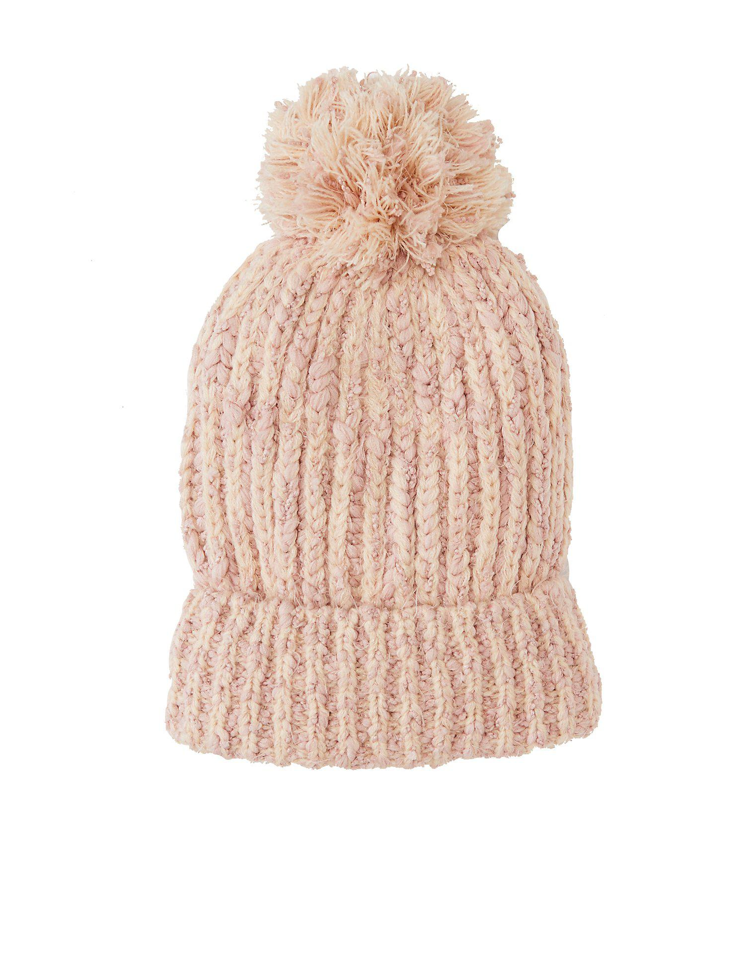 98f4bd28c68 Lyst - Charlotte Russe Marled Knit Pom Pom Beanie in Pink