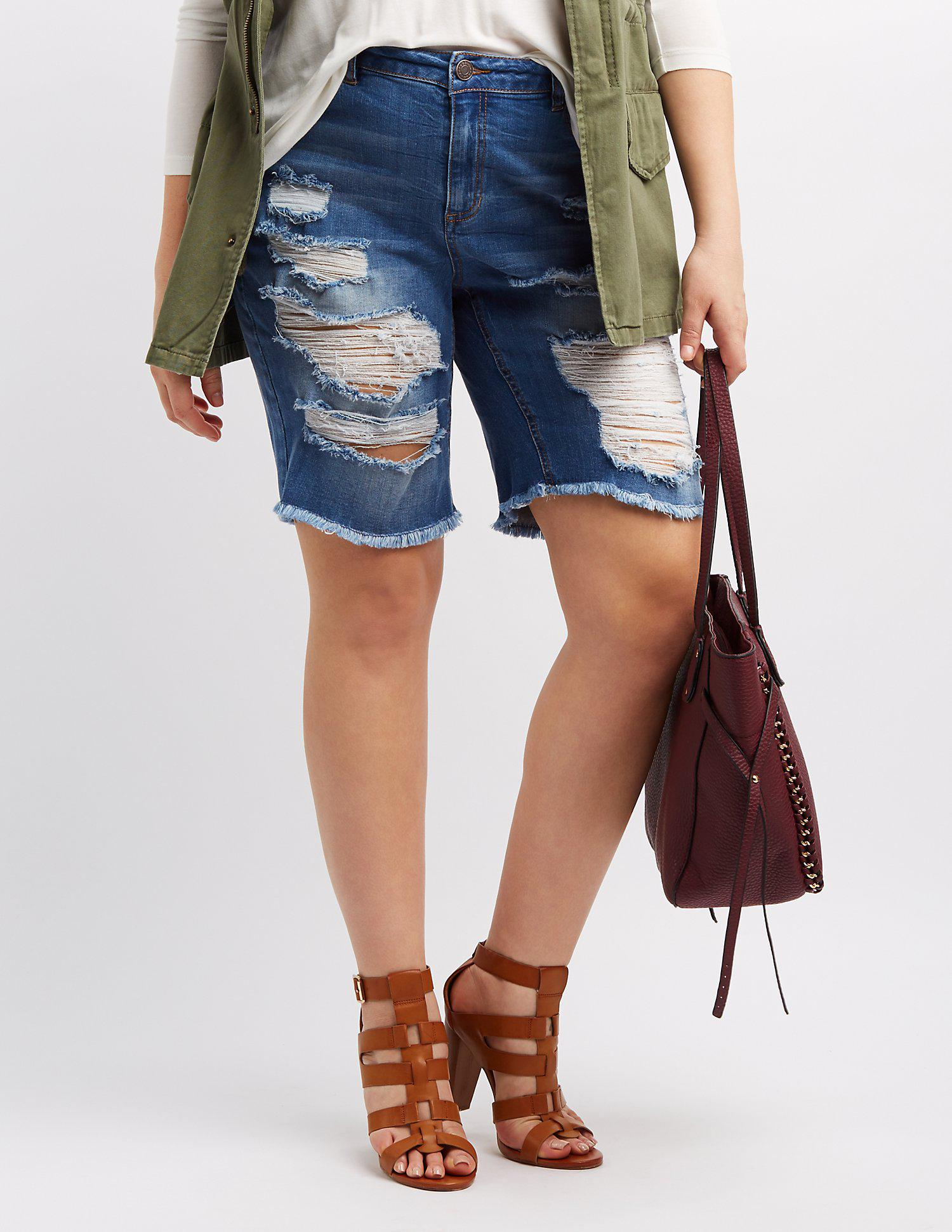 71fb3a4cba Gallery. Previously sold at: Charlotte Russe · Women's High Waisted Denim  Shorts ...