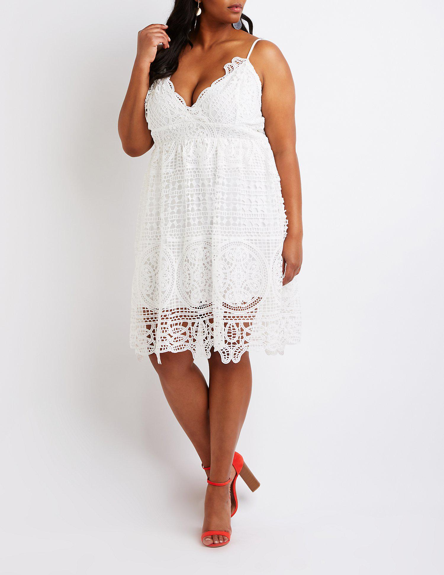 729b52509ee Gallery. Previously sold at  Charlotte Russe · Women s Crochet Dresses ...