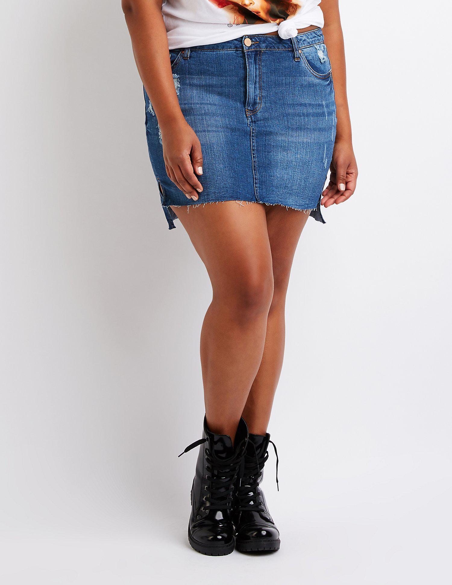 e62908569 Plus Size A Line Jean Skirt – DACC