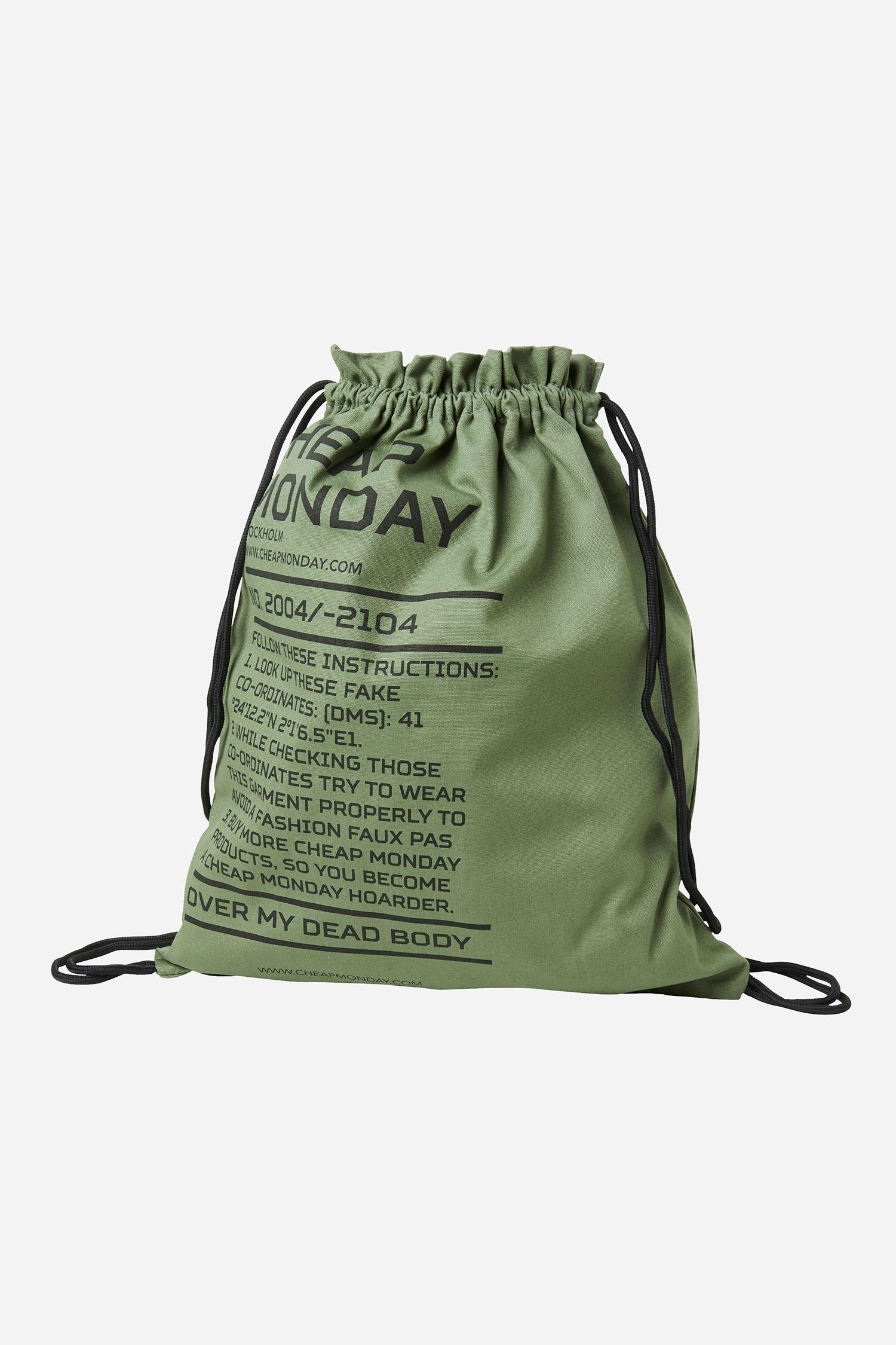 Cheap Monday Rapid Army Logo Gym Bag in Green for Men - Lyst d8f0c24c30