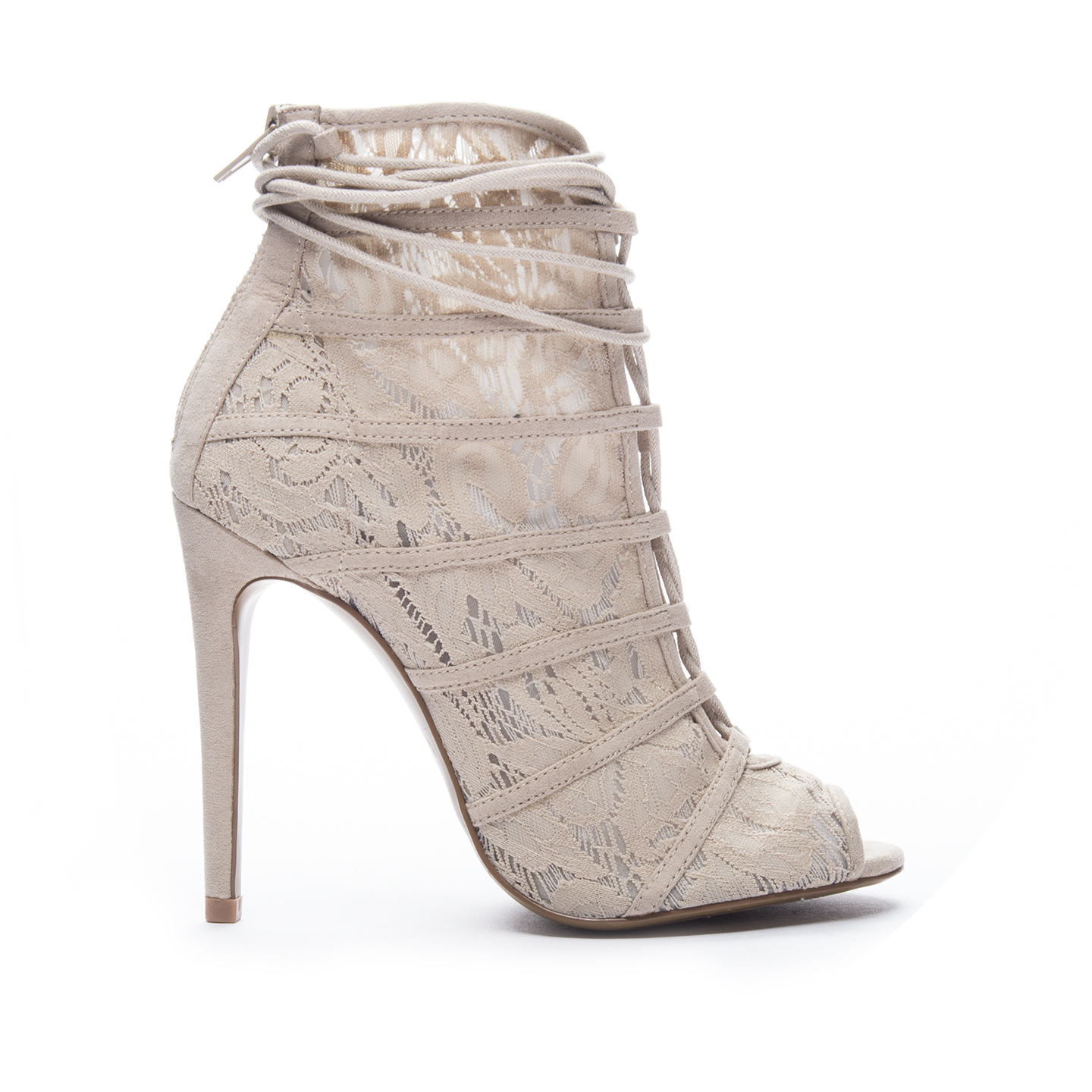 Chinese Laundry Jingle Lace Bootie In Natural Nude Lyst