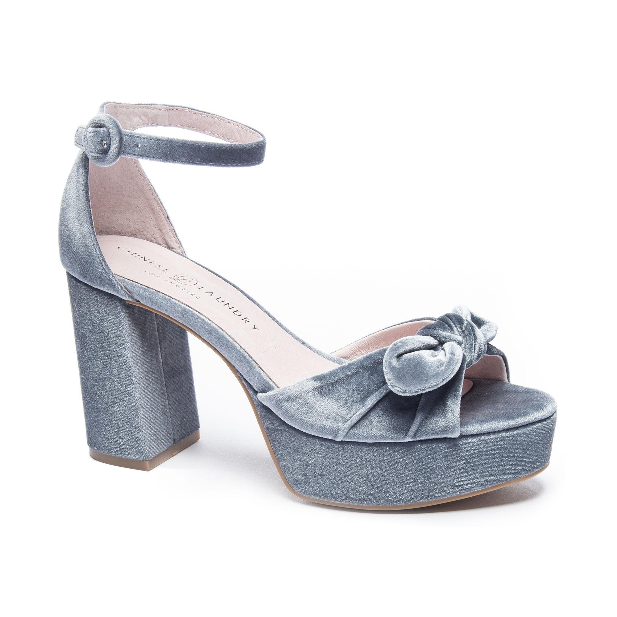 9cc8041504a0 Lyst - Chinese Laundry Tina Velvet Platform Sandal in Blue
