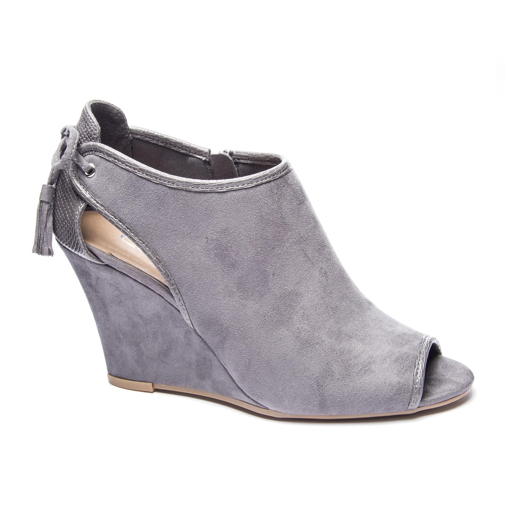 c4aef95ebfe9 Lyst - Chinese Laundry Brinley Wedge Bootie in Gray