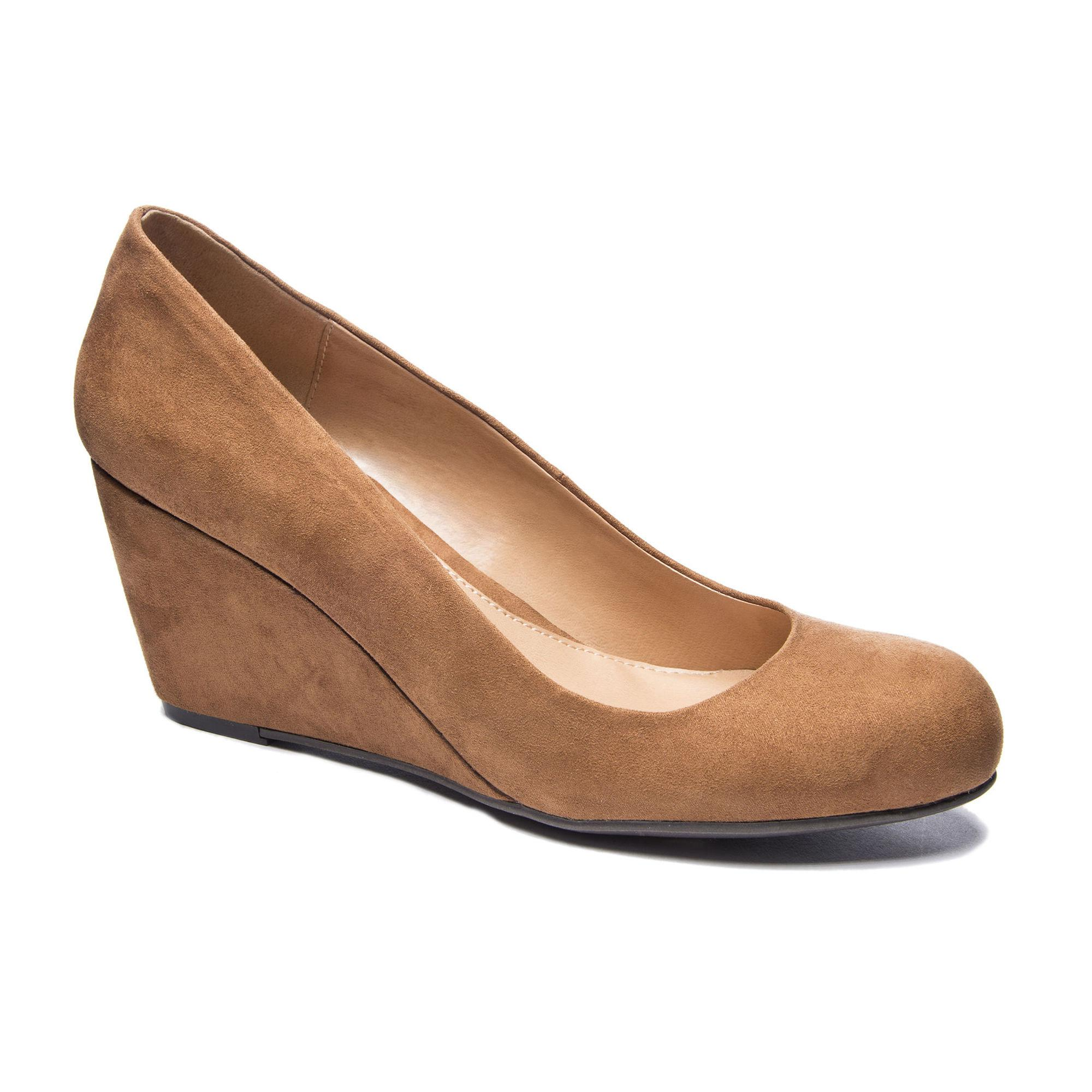 07af1f45923 Lyst - Chinese Laundry Nima Wedge Pump in Brown