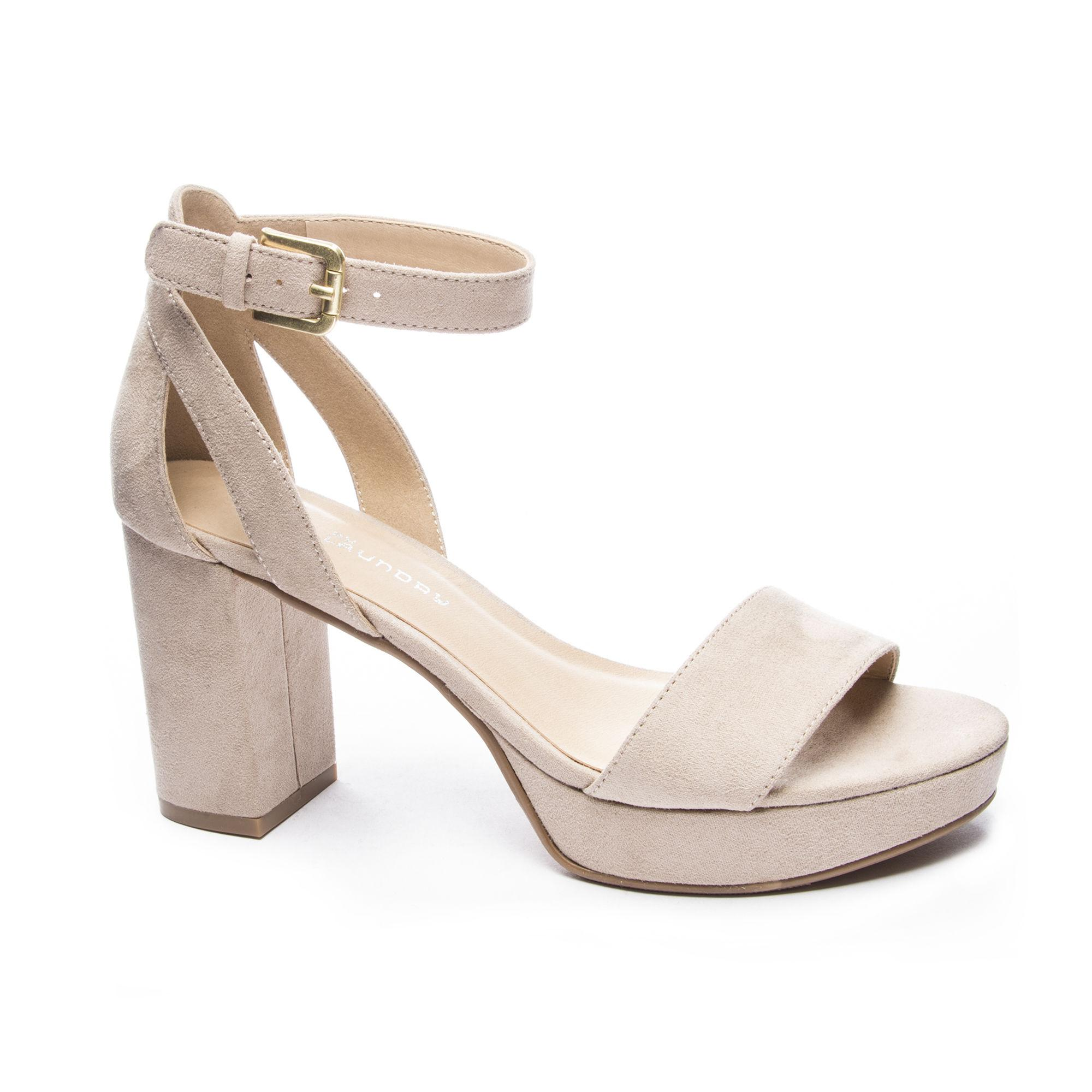 7aeb282c76f Lyst - Chinese Laundry Go On Block Heel Sandal in Natural