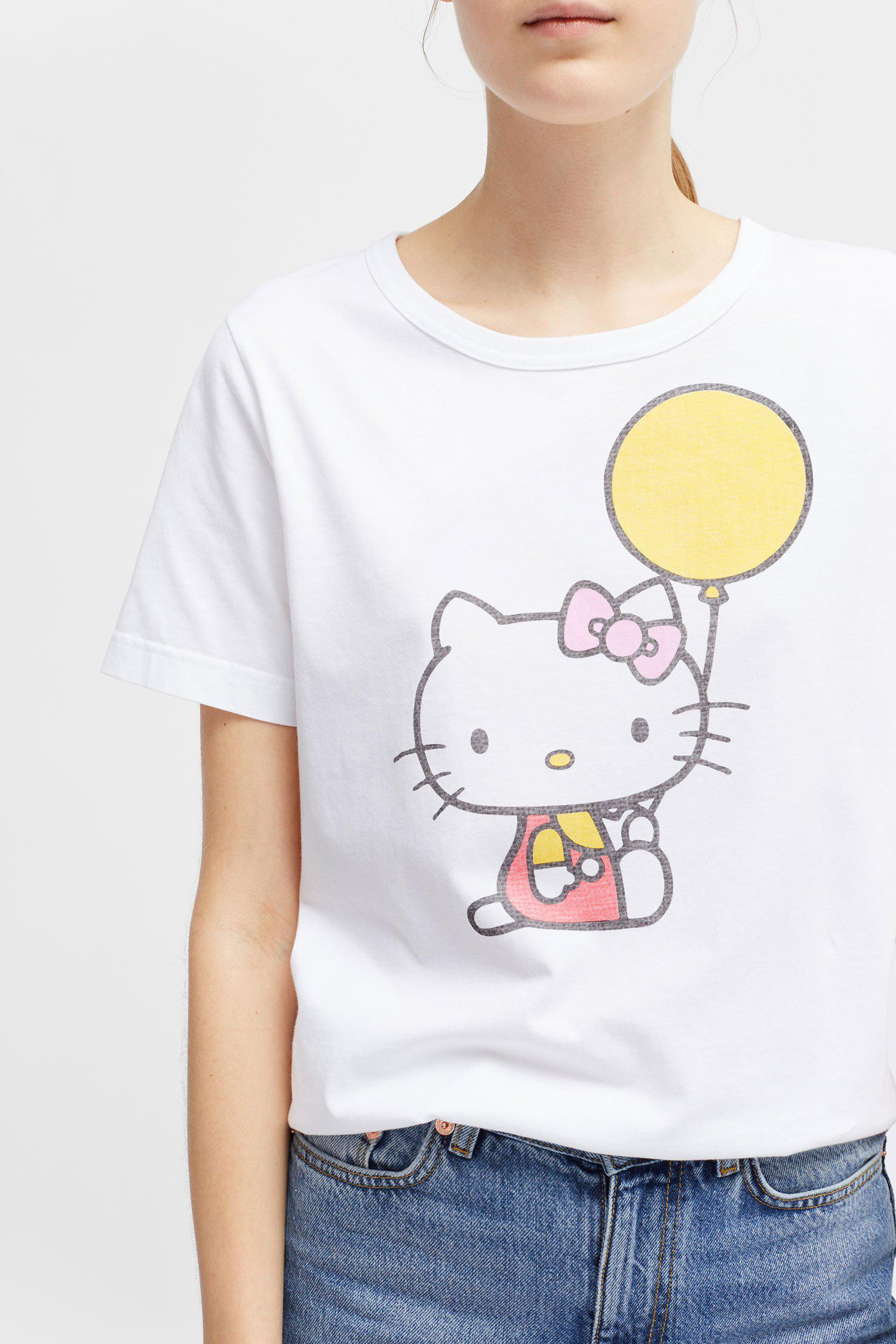 94ea3a4d3 Chinti & Parker Hello Kitty Print T-shirt in White - Lyst