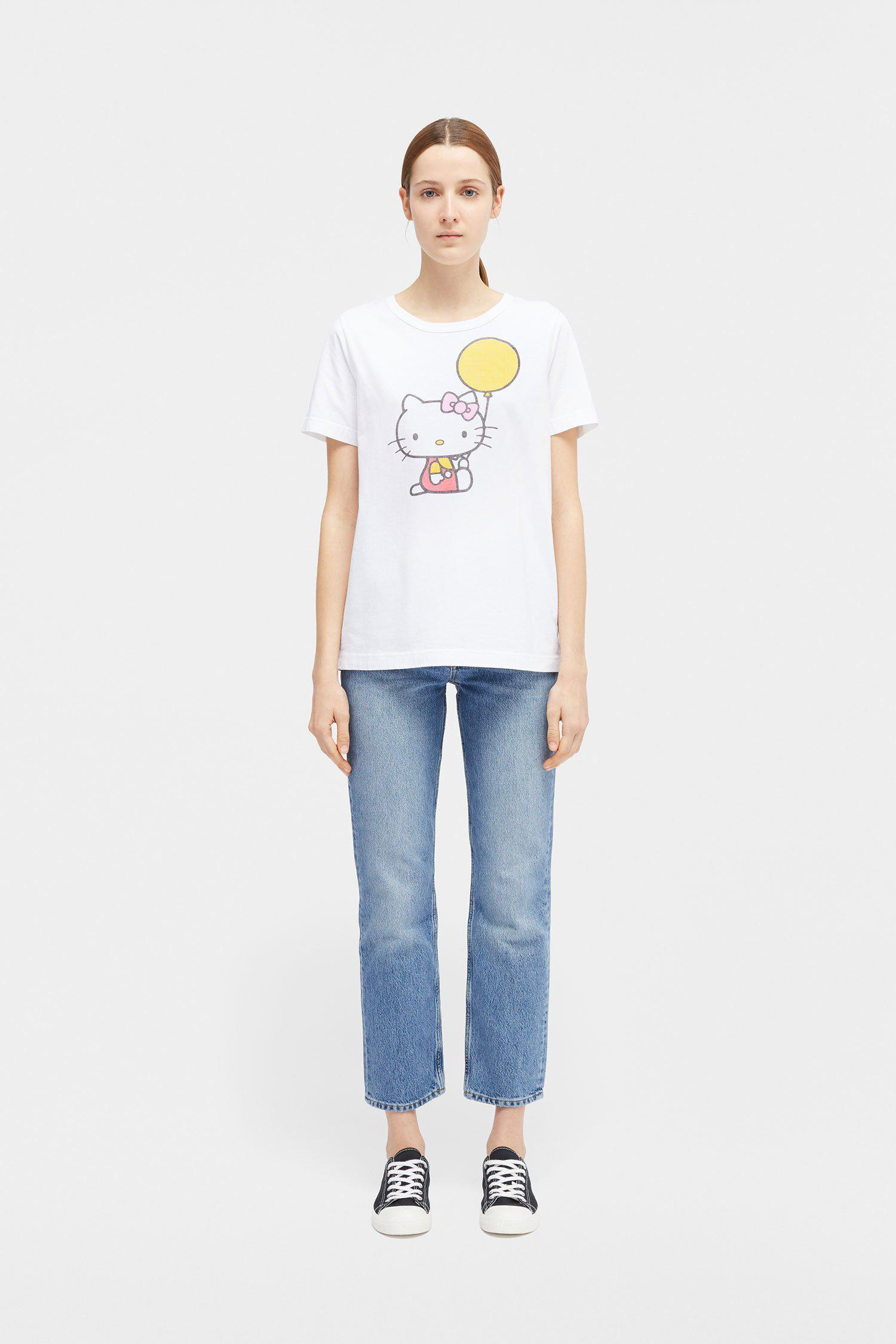 fb4b04601 Chinti & Parker - White Hello Kitty Print T-shirt - Lyst. View fullscreen