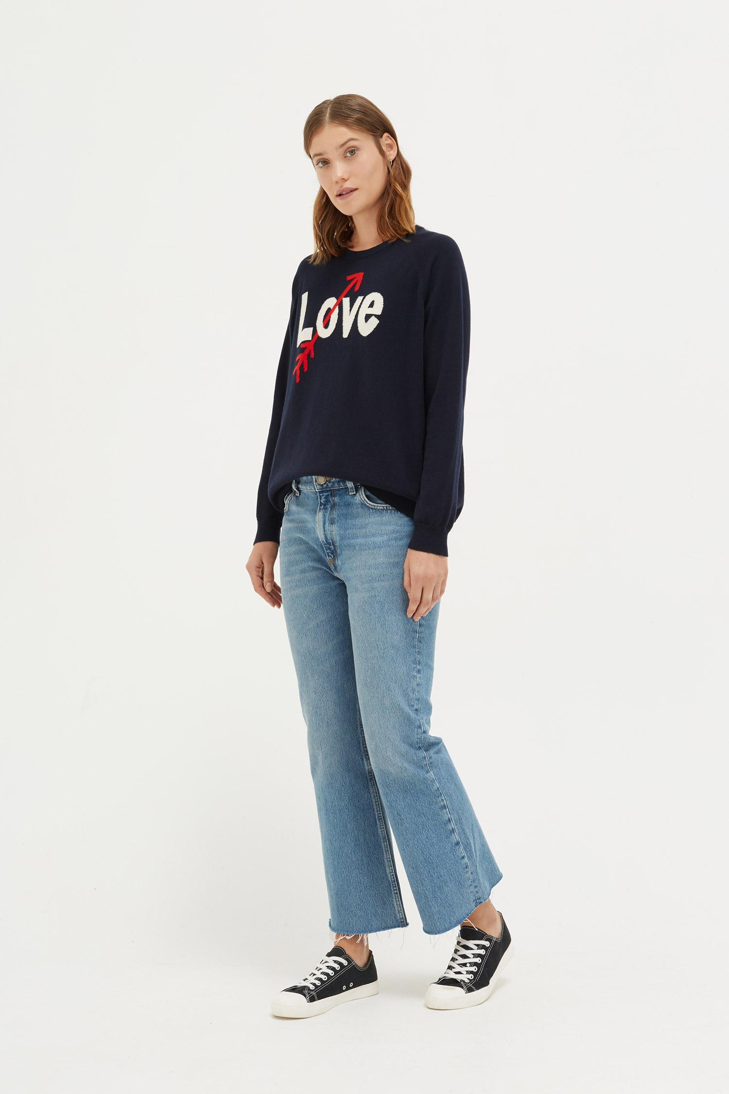Arrow Women's amp; Blue Love Sweater Chinti Parker a8wfqF