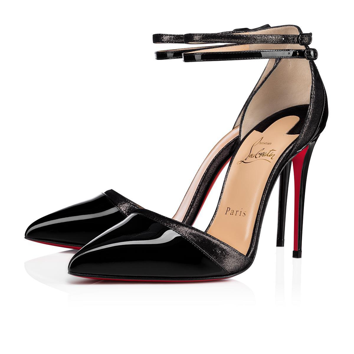 13683f2e2d2a Christian Louboutin Uptown Double Patent suede Lame 100 Black Patent ...