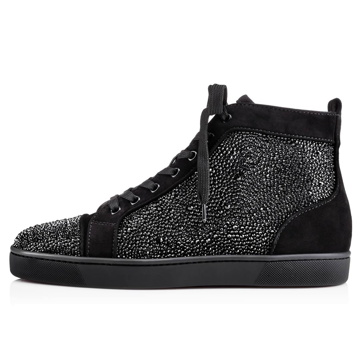 98beafd7f391 Lyst - Christian Louboutin Louis Strass Men s Flat in Black for Men