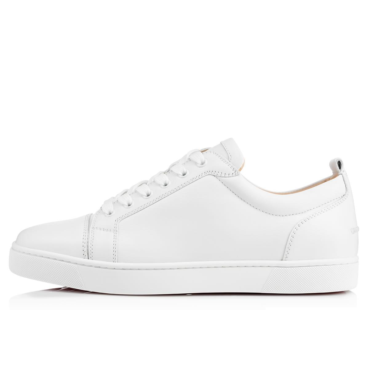 4cb67232e16 Christian Louboutin - White Louis Junior Leather Low-Top Sneakers for Men -  Lyst. View fullscreen