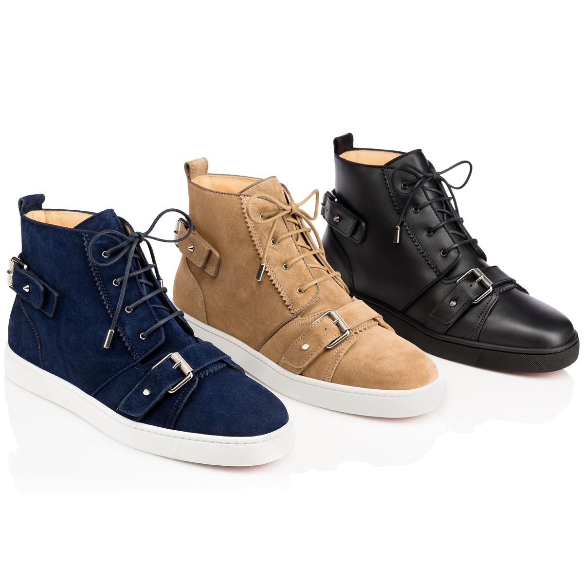 Mens Nono Strap Suede Sneakers Christian Louboutin GgVx124Vb