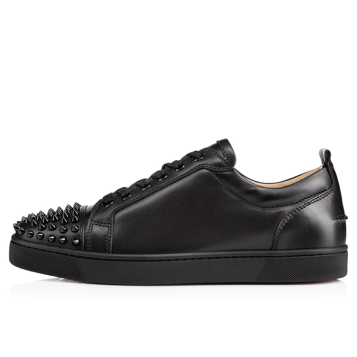 lyst christian louboutin louis junior spikes leather sneakers in rh lyst com