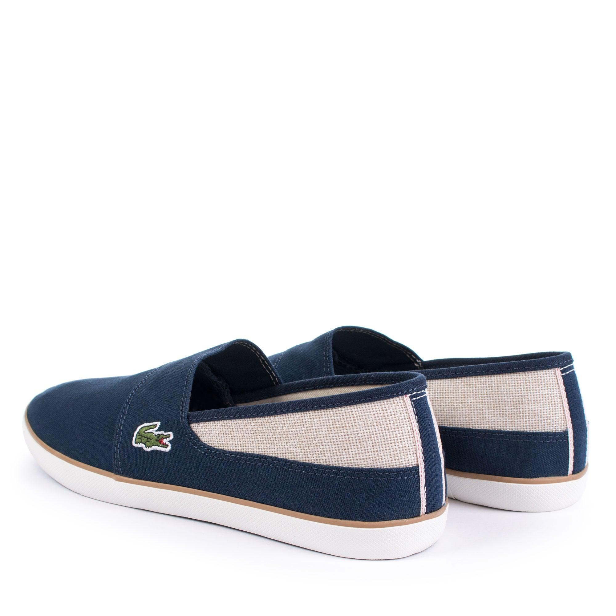 3dc9b8c5e430 Lacoste Marice 218 1 Cam Canvas Slip Ons in Blue for Men - Lyst