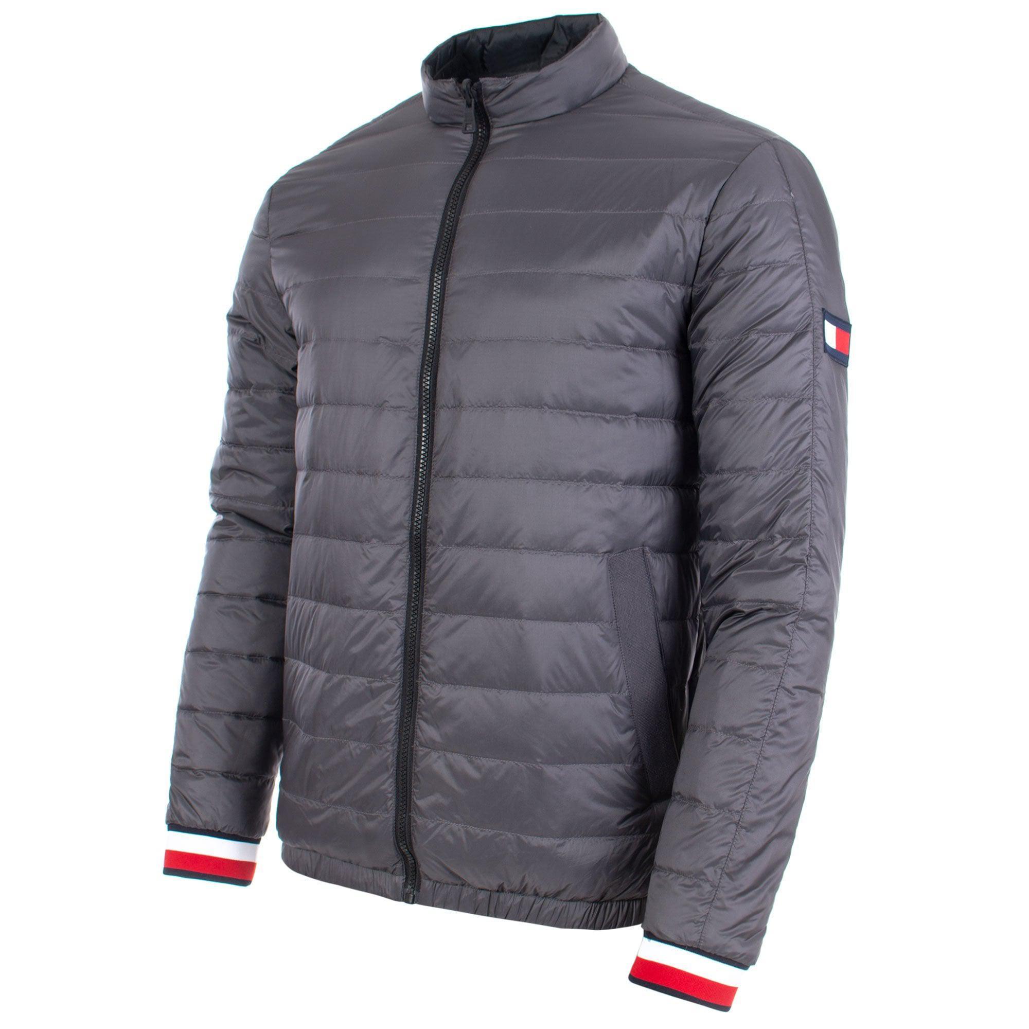 71164e4c1 Tommy Hilfiger Gray Reversible Nylon Down Jacket for men
