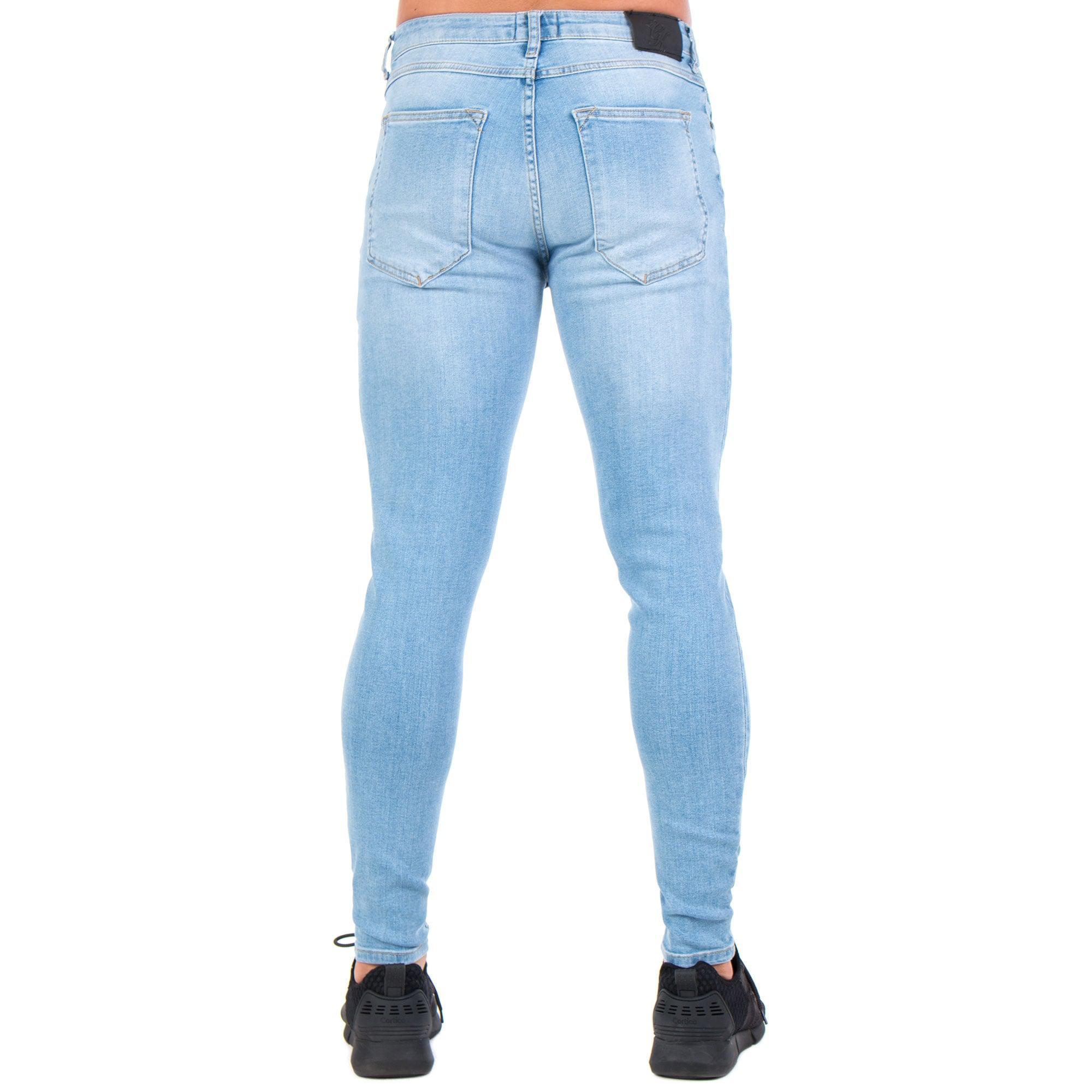 Gym King Denim Distressed Jeans in Wash Blue (Blue) for Men