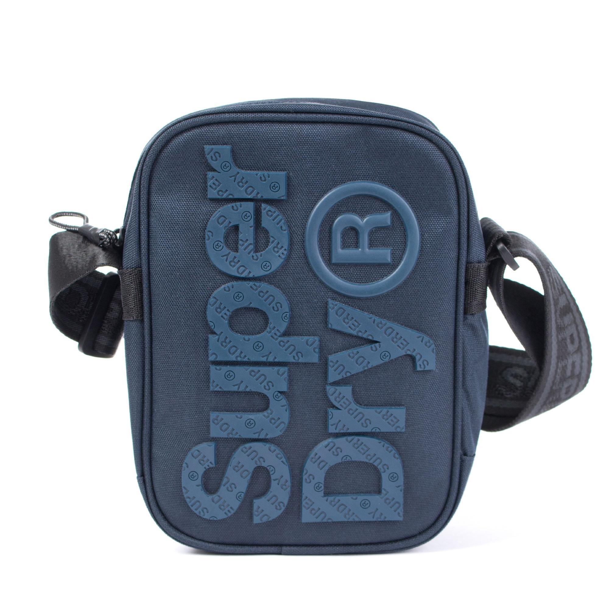 Superdry B Boy Festival Cross Body Sidebag Pouch Bag Navy