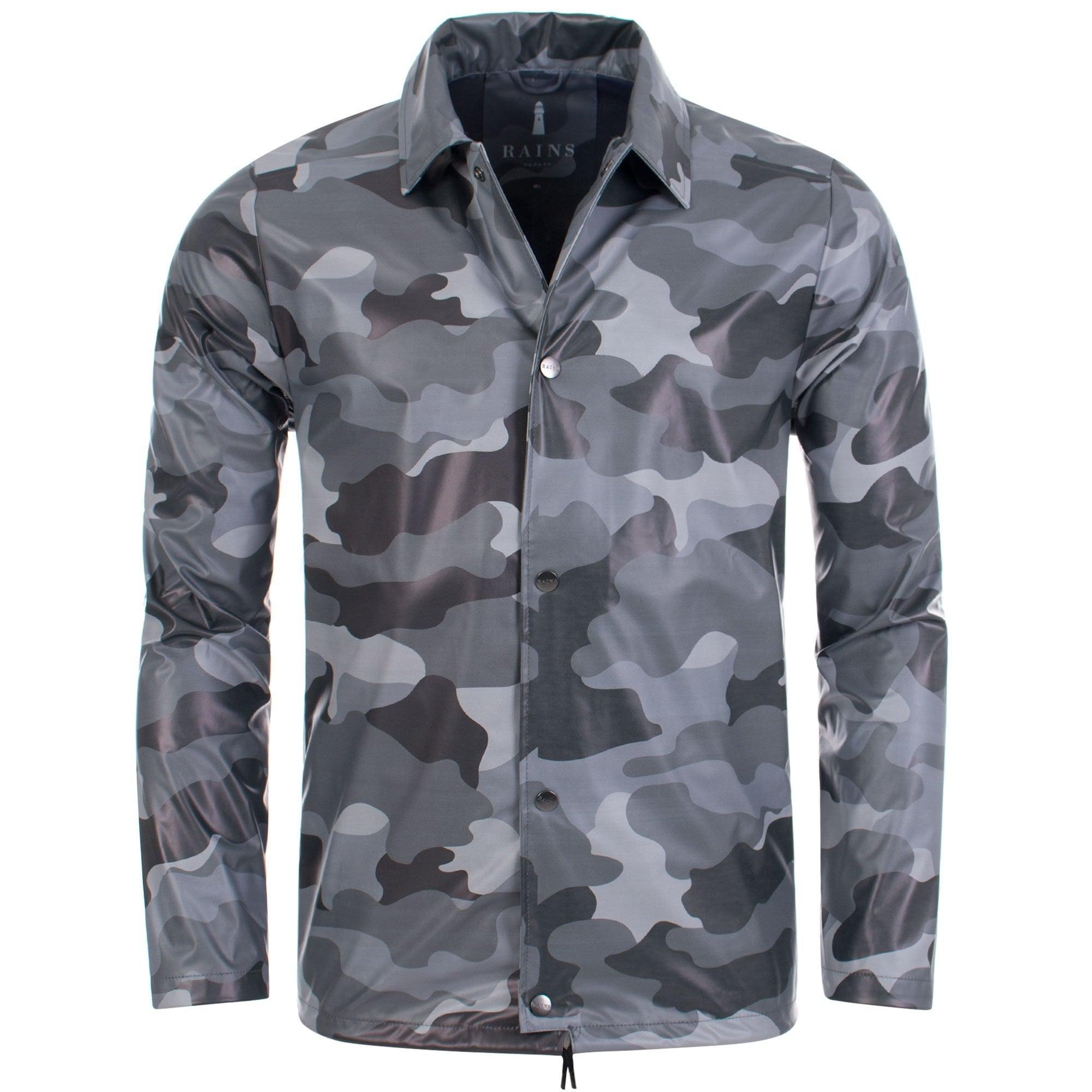 Rains Synthetic Aop Coach Jacket In Sea Camo in White for Men