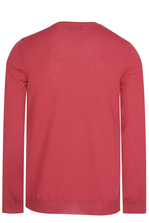 HUGO BOSS Sweater Red Slim Fit Virgin Wool RRP £119