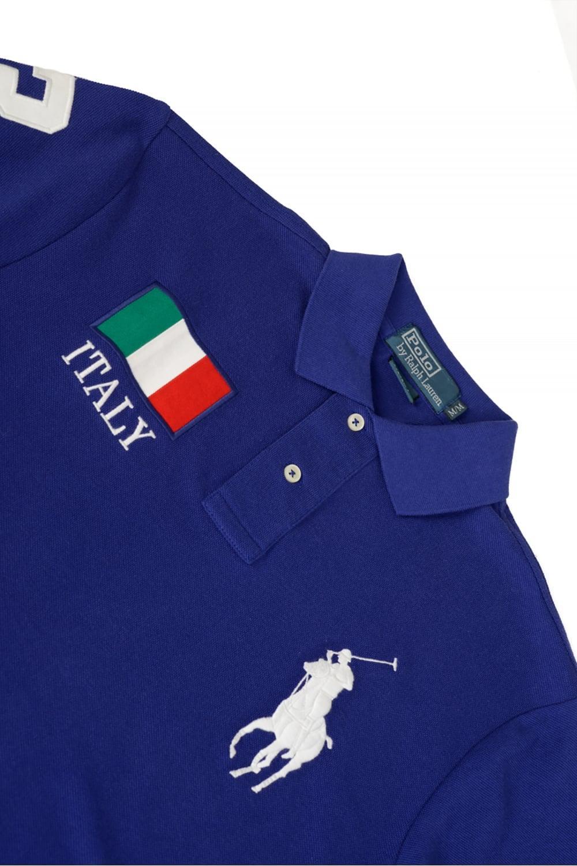Polo 'italy' Shirt Fit Men's Custom Blue FclJK13T